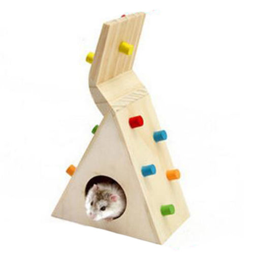 Cute Hamster Hideout Hut, Cute Wooden Bedding for Small Animals?Z