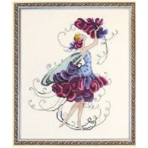 Pixie Couture Collection Sweet Pea Counted Cross Stitch Chart Pattern