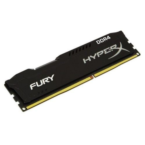 HyperX Fury Black 8GB, DDR4, 2400MHz (PC4-19200), CL15, 1.2V, DIMM Memory, Single Rank