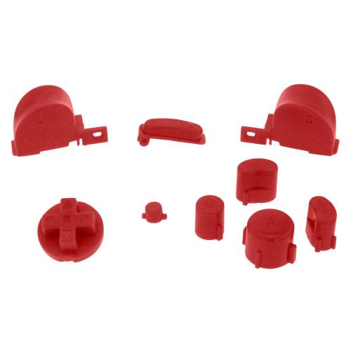 Button set for GameCube Nintendo Controller mod kit set ZedLabz - Red