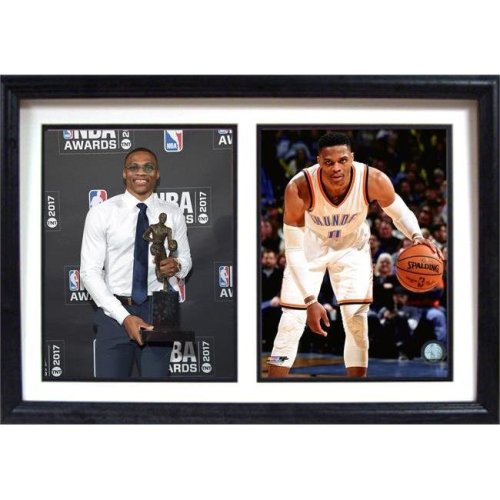Encore Select 299-17 12 x 18 in. MVP Russell Westbrook, Oklahoma City Thunder - Double Frame