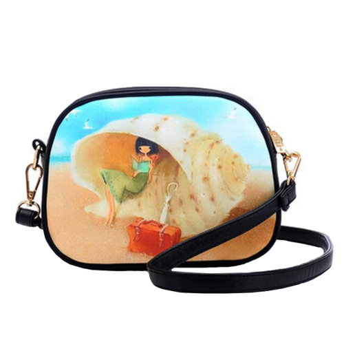 Girls Leisure Lovely Purse Bag Single Shoulder Strap Bag Girlfriend Kid Birthday Gift,Conch Princess