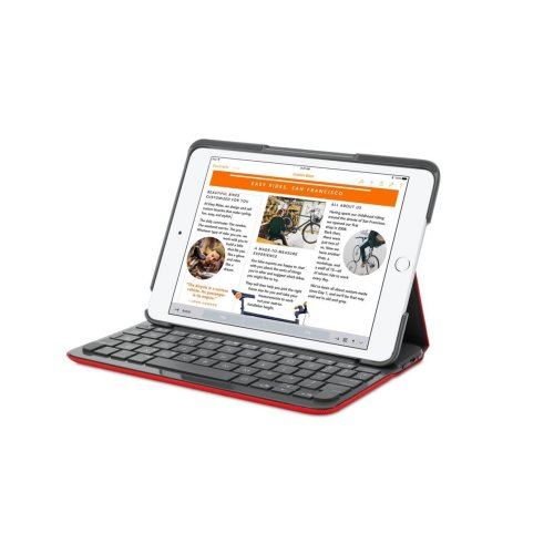 Logitech Canvas Keyboard Case for iPad Air 2 - Mars Red Orange - French AZERTY - 920-007275 (Not Suitable for iPad Air 1)