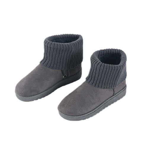 [Grey] Heating Shoes Warm USB Electric Heated Boots usb Foot Warmer for Winter 24cm