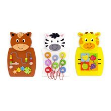 Childrens Set of 3 Animal Wall Play Panels (76089)