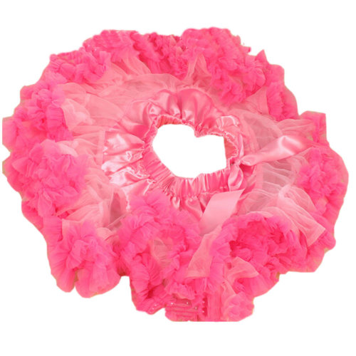 Beautiful Two-Tone [Rosy&Pink] Kids 6-7Yrs Dance Skirt Yarn Tutu Skirt One Size