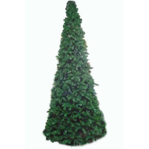 Artificial Slim Glacier Christmas Tree - 180cm, Green