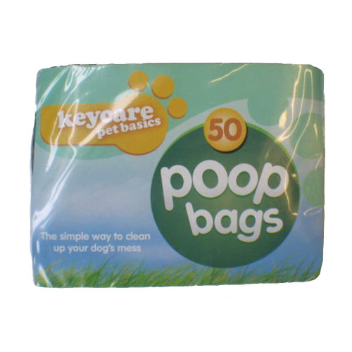 50 Poop Bags With Tie Handles for Pets