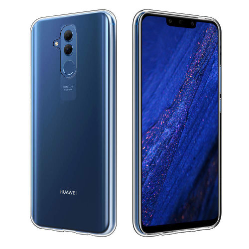 iPro Accessories Huawei Mate 20 Lite Case, Huawei Mate 20 Lite Cover, Huawei Mate 20 Lite Gel Case, Huawei Mate 20 Lite Clear Case, 9H Tempered Glass Back Cover Case [Anti-Scratch] with Soft Silicone Bumper For Huawei Mate 20 Lite