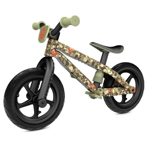 Chillafish BMXie Balance Bike Special Edition Commander in Peace With Rubber Skin Tyres Ajustable Seat No Tools Stickers Included Ages 2-5 Years