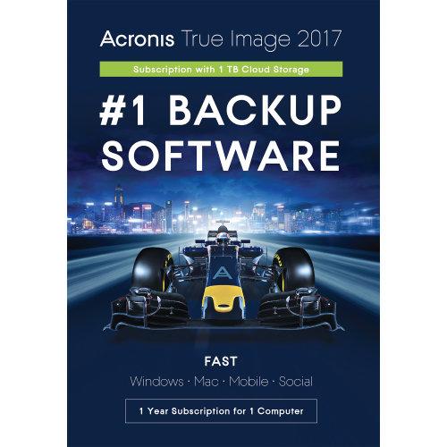 Acronis THJXB2S True Image 2017 - 1 Computer w/1TB Cloud Storage THJXB2UKS