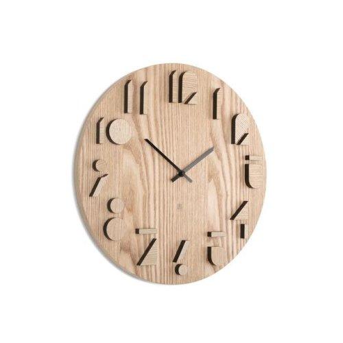 Umbra 118080-390 16 in. Shadow Wall Clock - Natural