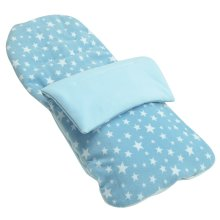 Snuggle Summer Footmuff Compatible With Peg Perego Pliko Switch easy drive - Light Blue Star
