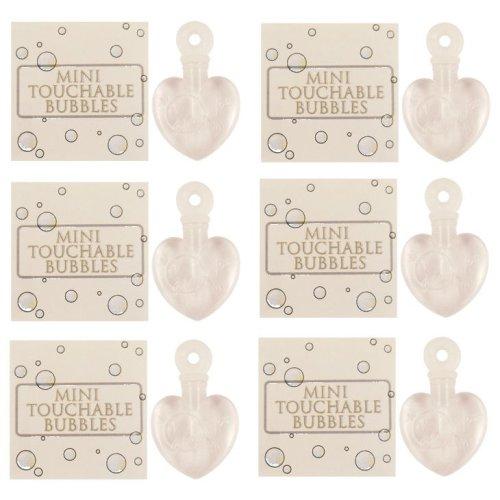 6 White Heart Catchable Bubbles