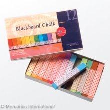 Mercurius Blackboard Pastel Chalk - 12 colors assorted