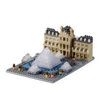 Nano 3D Puzzle - Muse du Louvre (Level 3)