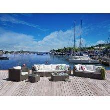 Wicker Lounge Set - Luxury Outdoor Furniture - Grey - MAESTRO