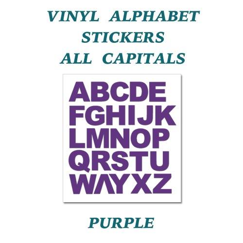 1 X Full Alphabet Purple Letters Self Adhesive Vinyl Stickers 20mm On OnBuy