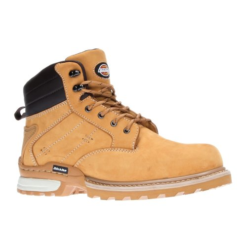 Dickies Canton Safety Work Boots Tan Honey (Sizes 7-12) Men's Steel Toe Cap Shoe