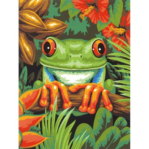 "Dpw91617 - Paintsworks Learn to Paint 9"" X 12""- Tree Frog"