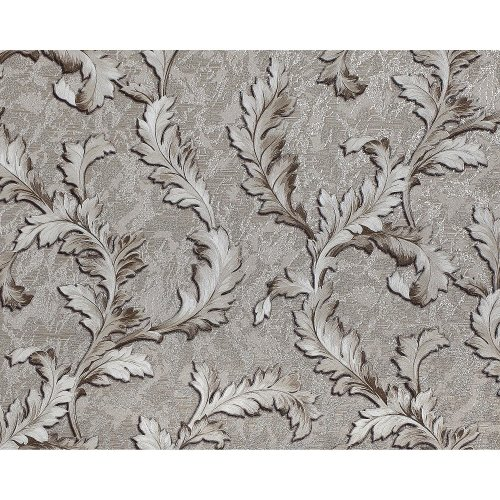EDEM 9010-34 Flowers non-woven wallcovering shiny silver cream 10.65 sqm