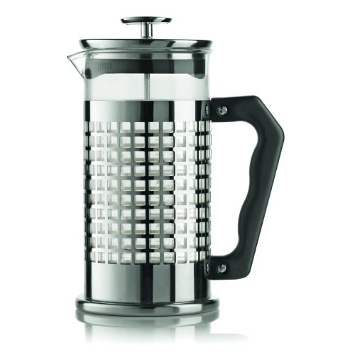 Bialetti 1 Litre 8 Cup Bialetti Trend Cafetiere, Silver