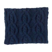 Premium Warm Knit Scarf Infinity Knitted Scarves Neck Scarfs Wrap, Deep Blue