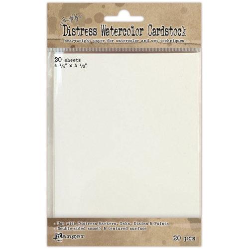 "Tim Holtz Distress Watercolor Cardstock 20/Pkg-4.25""X5.5"""