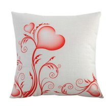 Valentine's Day Couples Gifts Throw Pillow Sofa Home Car Decor Heart Flower HQ08