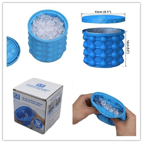 Cold Ice Cube Maker Silicone Bucket Mold Kitchen Beer Cola Freezer