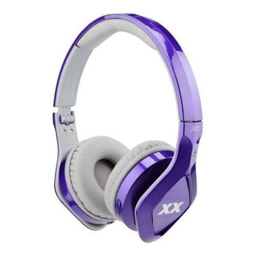 JVC Xtreme Xplosives XX Club Sound On-Ear Headphones - Violet