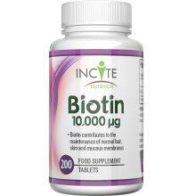 Biotin Hair Growth Vitamins 10000MCG 200 6mm Tablets