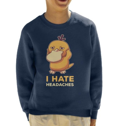 I Hate Headaches Psyduck Pokemon Kid's Sweatshirt