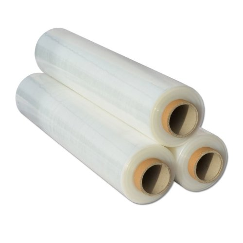 4x  Shrink Wraps Heavy Duty Clear Pallet Wrap Stretch Film 500mm x 450m 23mu 3kg