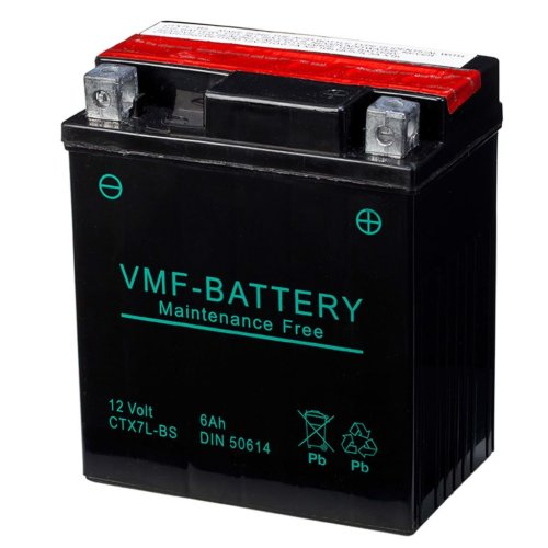 VMF Powersport Liquifix Battery 12V 6Ah MF YTX7L-BS