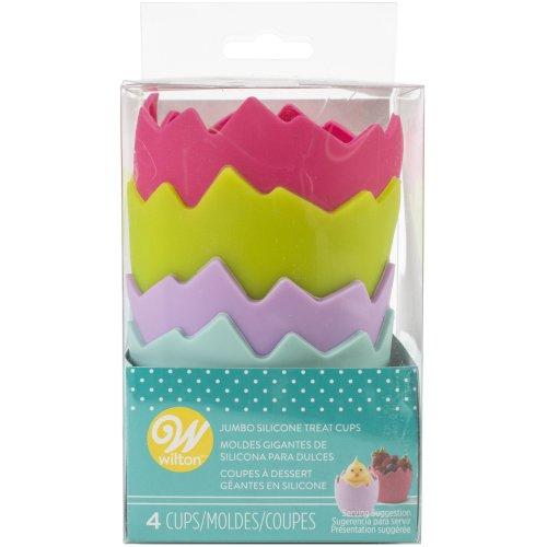 Silicone Jumbo Treat Cups 4/Pkg-Broken Egg