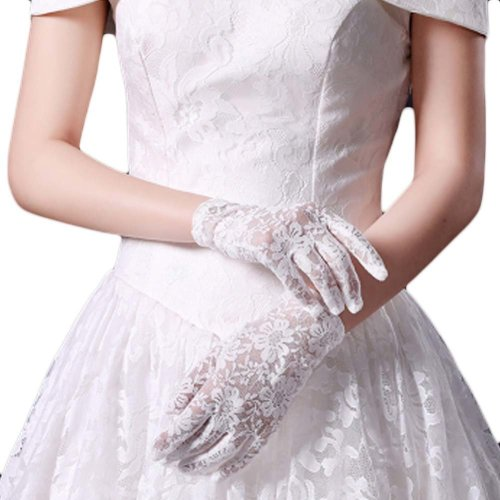 Bridal Wedding Gloves Party Dress Lace Short Gloves B10