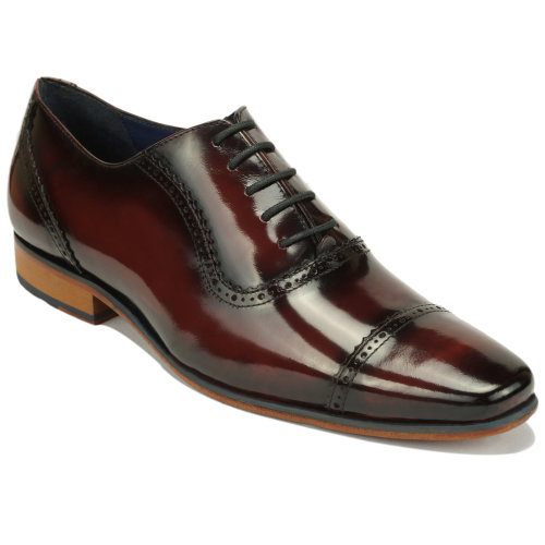 Scott Williams Men's Quincy Bordeaux Leather Shoes