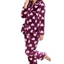 Casual Pajama Set Warm Sleepwear Home Apparel Flannel Pajamas X-large-A9