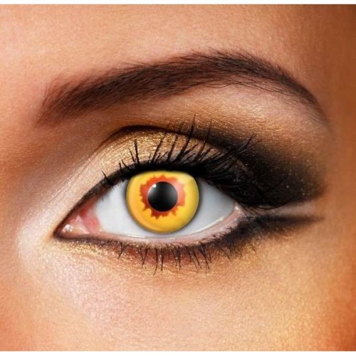 Gold Vampire Contact Lenses (pair) - Halloween Contact Lenses