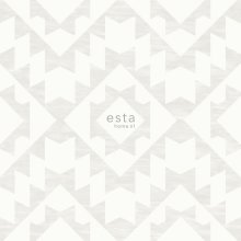 chalk printed eco texture non woven wallpaper Aztec marrakech ibiza carpet Light warm gray and matt white