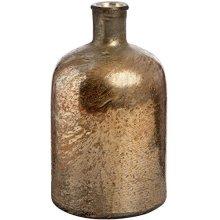 Rose Gold Metallic Lustre Glass Bottle Vase -  rose gold metallic lustre glass bottle vase store small flower inside