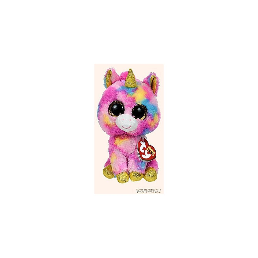 New Original TY Beanie Boos Big Eyes Stuffed Animals Fantasia Unicorn Kids  Plush Toys For Children.   de4334aa36c0