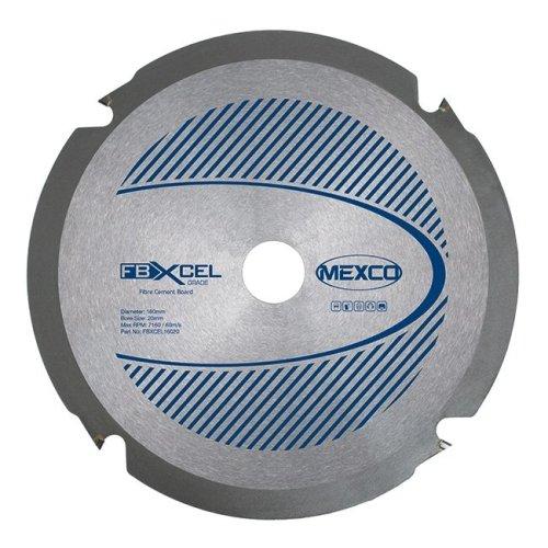 Mexco FBXCEL 160mm Fibre Cement Board PCD Blade