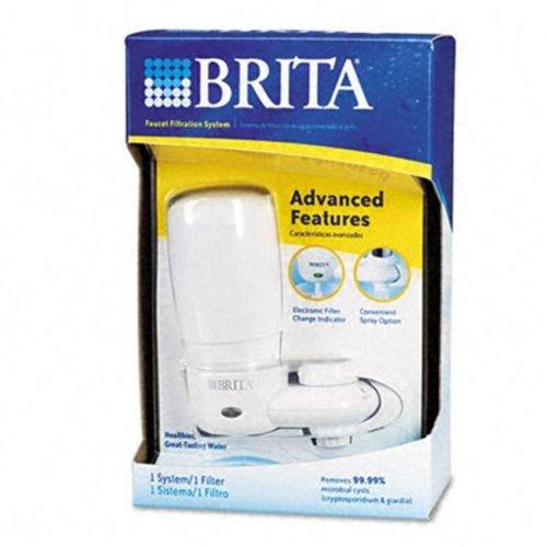 Brita 42201 Faucet Filter System- Electronic Filter-Change Indicator- 4/Carton