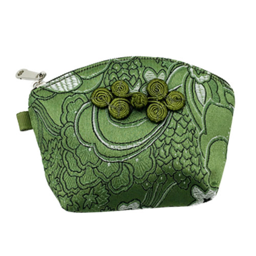Set of 2 Traditonal Chinese Embroidered Jewelry Coin Pouch Bag Wallet Purses   O