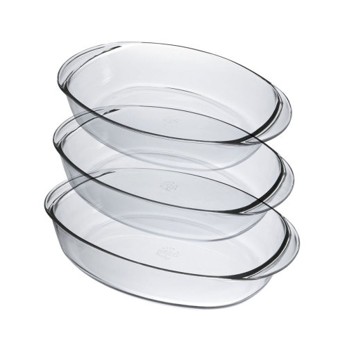 Duralex Ovenchef Set of 3 Oval Roasters