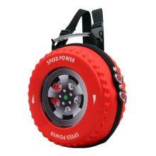 Creative Children Wheel Backpack Soft Shoulder Bag Fashion School Bag-Red