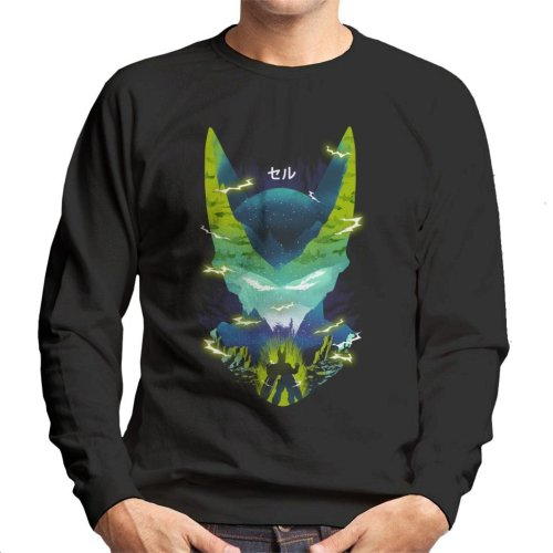 Cell Silhouette Dragon Ball Z Men's Sweatshirt