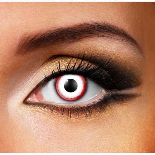Saw white Contact Lenses (Pair) - Halloween Contact Lenses